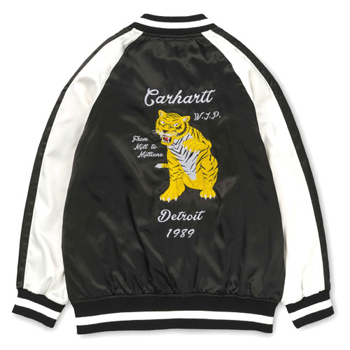 [Carhartt WIP] Tiger Souvenir Jacket (Black/White) 칼하트 타이거 슈비니어 자켓