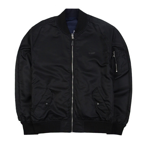[HUF] Souvenir MA-1 Jacket (Navy Black) 허프 슈비니어 자켓