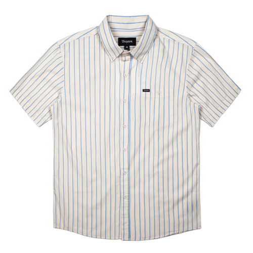 [BRIXTON] Howl S/S Woven Shirts (Off White/Blue) 브릭스톤 하울 우븐 셔츠
