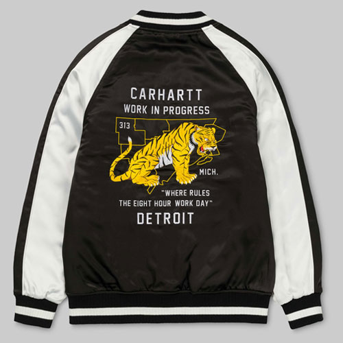 [Carhartt WIP] Michigan Souvenir Jacket (Black/Multi) 칼하트 미시건 슈비니어 자켓