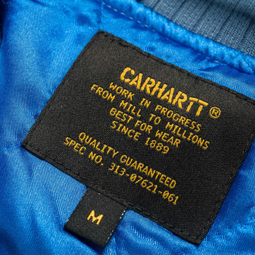 [Carhartt WIP] Michigan Souvenir Jacket (Moonlight Blue/Multi) 칼하트 미시건 슈비니어 자켓