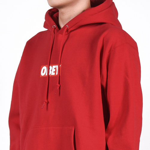 [OBEY] Obey Bar Logo Hood (Red) 오베이 바로고 후드