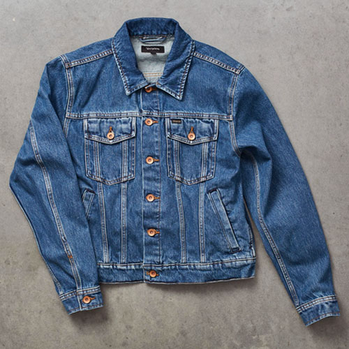 [Brixton] Cable Denim Jacket (Worn Indigo) 브릭스톤 케이블 데님 자켓