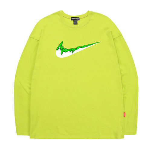 [TRIPSHION] Green Banding Toothpaste Long Sleeves (4color) 트립션 그린 밴딩 치약 긴팔