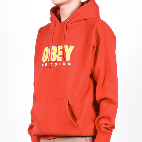 [OBEY] Obey Records 2 Hood (Red) 오베이 레코즈2 후드