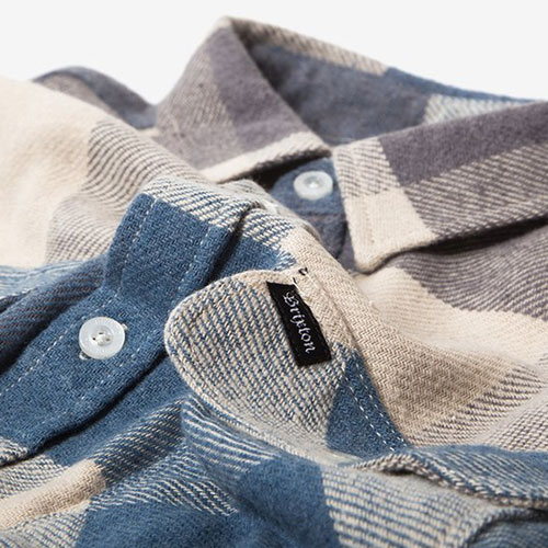 [Brixton] Bowery L/S Flannel (Off White/Dusty Blue) 브릭스톤 보웨리 플란넬 셔츠