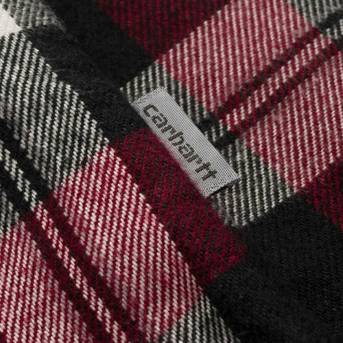 [Carhartt WIP] L/S Lessing Shirt (Lessing Check,Mulberry) 칼하트 레싱 셔츠