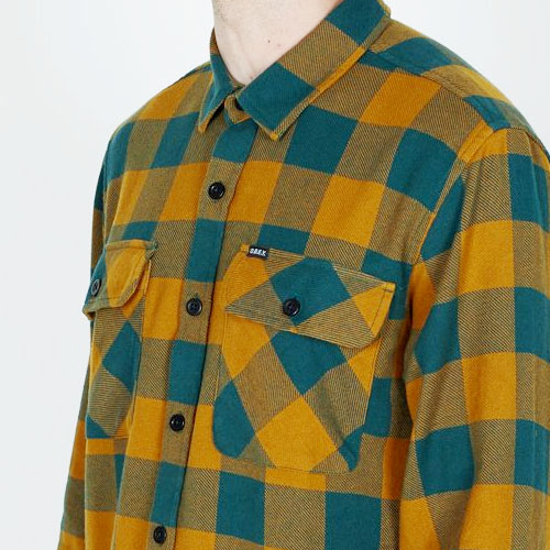 [OBEY] Vedder Woven Shirts (Dark Teal Multi) 오베이 베더 우븐 셔츠