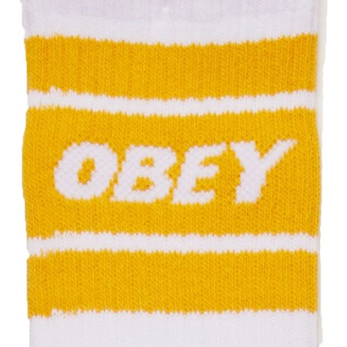 [OBEY] Cooper II Socks (White/Energy Yellow) 오베이 쿠퍼2 삭스/양말