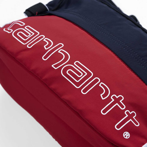 [Carhartt WIP] Terrace Hip Bag (Cardinal/Dark Navy/White) 칼하트 테라스 힙백