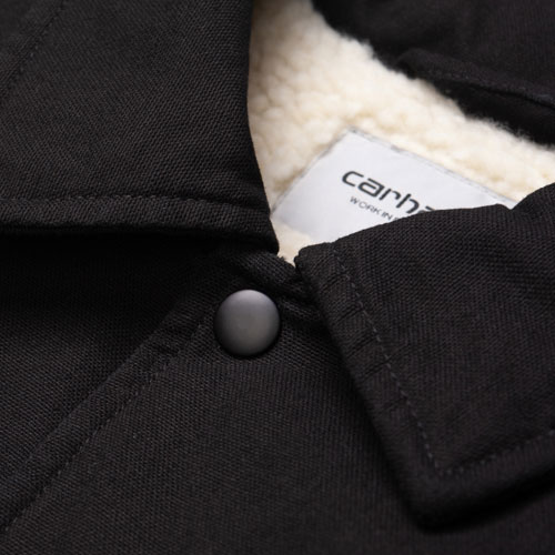 [Carhartt WIP] Canvas Coach Jacket (Black) 칼하트 캔버스 코치 자켓