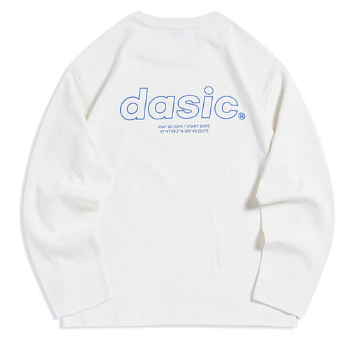 [Dasic] Back Logo Long Sleeve (4 Color) 데이직 백 로고 긴팔