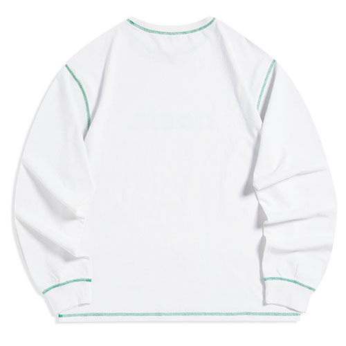 [Dasic] Stitch Logo Long Sleeve (4 Color) 데이직 스티치 로고 긴팔