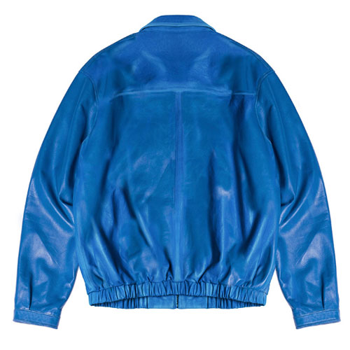 [Left] Lambskin Leather Jacket (Blue) 레프트 램스킨 레더 자켓