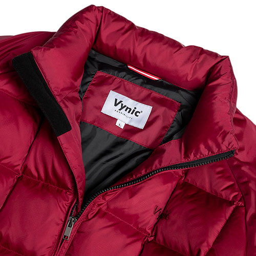 [Vynic] Waffle Duck Down Short Padding (Burgundy) 바이닉 와플 덕다운 숏패딩
