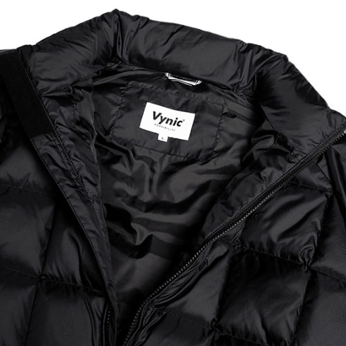 [Vynic] Waffle Duck Down Short Padding (Black) 바이닉 와플 덕다운 숏패딩