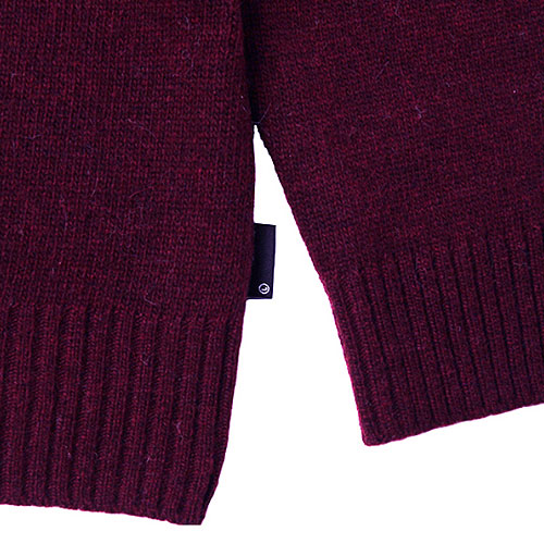 [Left] Wool Knit Crewneck 'BEAM' (Wine) 레프트 울 니트 크루넥