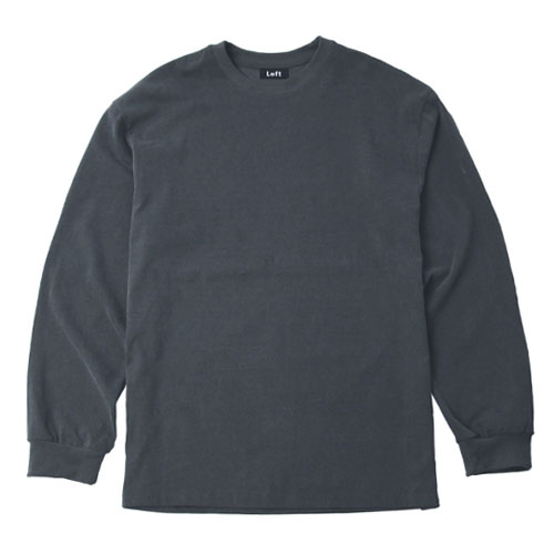 [Left] Pigment Dyed Long Sleeve C/L (Charcoal) 레프트 피그먼트 다이드 긴팔 C/L