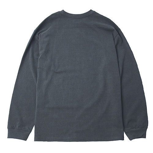 [Left] Pigment Dyed Long Sleeve NOS (Charcoal) 레프트 피그먼트 다이드 긴팔 NOS