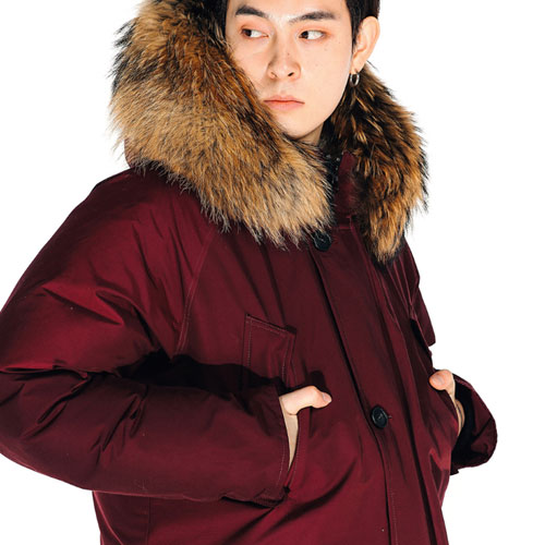 [Left] Goose Down Heavy Fur N3B (Burgundy) 레프트 구스다운 헤비 퍼 N3B 파카