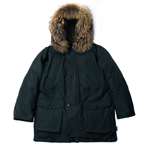 [Left] Goose Down Heavy Fur N3B (Dark Green) 레프트 구스다운 헤비 퍼 N3B 파카