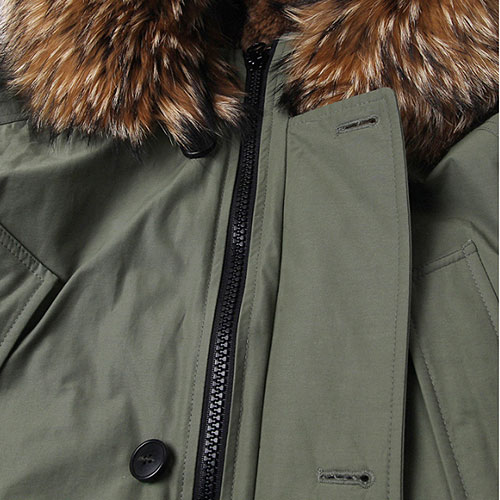 [Left] Goose Down Heavy Fur N3B (Sage Green) 레프트 구스다운 헤비 퍼 N3B 파카