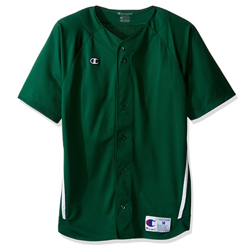 [Champion] Prospect Short Sleeve Full Button Jersey (Athletic Dark Green) 챔피온 프로스펙트 숏슬리브 풀버튼 져지 반팔