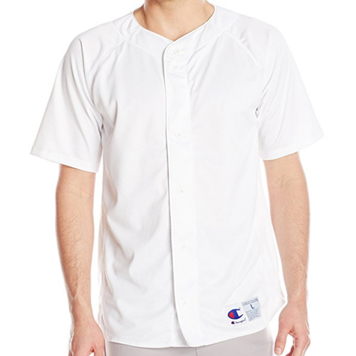 [Champion] Prospect Short Sleeve Full Button Jersey (White) 챔피온 프로스펙트 숏슬리브 풀버튼 져지 반팔