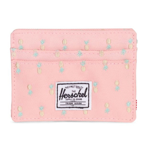 [Herschel] Charlie Card Wallet (Peach Pineapple/RFID) 허쉘 찰리 카드월렛/지갑