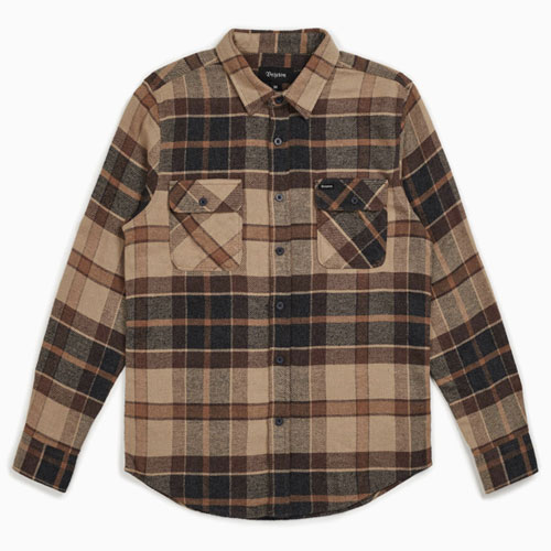 [Brixton] Bowery L/S Flannel (Cream/Copper) 브릭스톤 보웨리 플란넬 셔츠