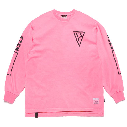 [STIGMA] Infamous Pigment Oversized Long Sleeves T-Shirts (Neon Pink) 스티그마 인페이머스 피그먼트 오버사이즈 긴팔