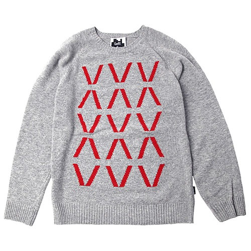 [Left] Wool Knit Crewneck 'HIVE' (Grey) 레프트 울 니트 크루넥