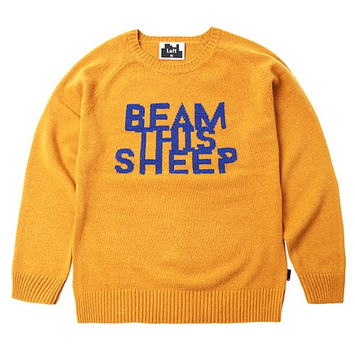 [Left] Wool Knit Crewneck 'BEAM' (Mustard) 레프트 울 니트 크루넥