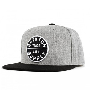 [Brixton] OathIII Snapback (Light Heather Grey/Black) 브릭스톤 오쓰3 스냅백