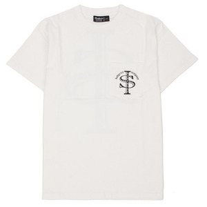 BADPRICE SIGN POCKET T-SHIRT (WHITE)