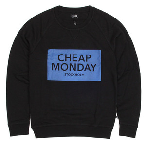 [Cheap Monday] Neil Inverted Sweat (Black) 칩먼데이 크루넥