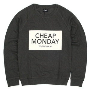 [Cheap Monday] Neil Inverted Sweat (Dark Grey) 칩먼데이 크루넥