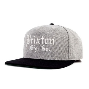 [Brixton] Vincent Snapback (Light Heather Grey/Black) 브릭스톤 빈센트 스냅백
