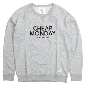 [Cheap Monday] Neil CM Sthlm Sweat (Light Grey Melang) 칩먼데이 크루넥