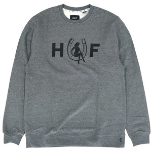 [HUF] Horseshoe Crew (Grey Heather) 허프 호스슈 크루넥