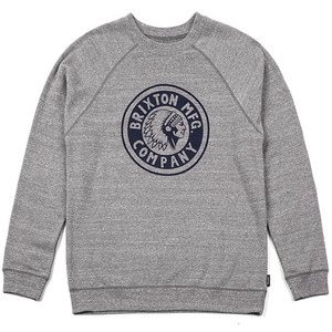 [Brixton] Rival Crew (Heather Grey/Navy) 브릭스톤 라이벌 크루넥