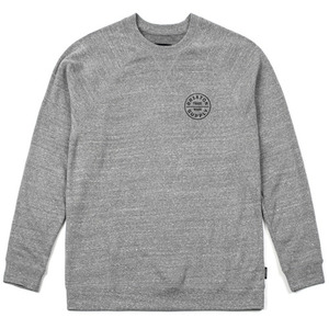 [BRIXTON] OATH CREW FLEECE (Heather Grey/Black) 브릭스톤 오쓰 크루넥