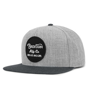 [Brixton] Wheeler Snapback (Heather Grey/Charcoal) 브릭스톤 휠러 스냅백