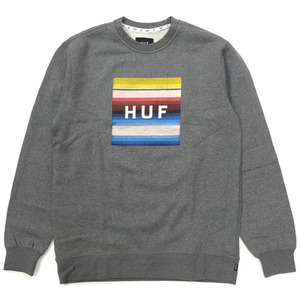 [HUF] SERAPE BOX LOGO CREWNECK (GREY HEATHER) 허프 세라피 크루넥