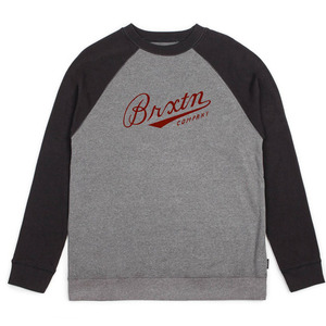 [BRIXTON] FENWAY CREW FLEECE (HEATHER GREY/BLACK) 브릭스톤 펜웨이 크루넥