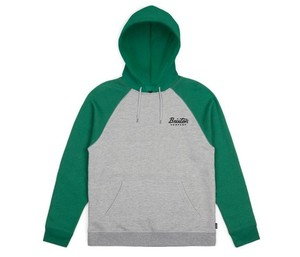 [BRIXTON] JOLT HOOD FLEECE (HEATHER GREY/GREEN) 브릭스톤 졸트 플리스 후드